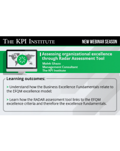 Assessing organizational excellence through Radar Assessment Tool