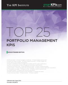 Top 25 Portfolio Management KPIs - 2016 Extended Edition