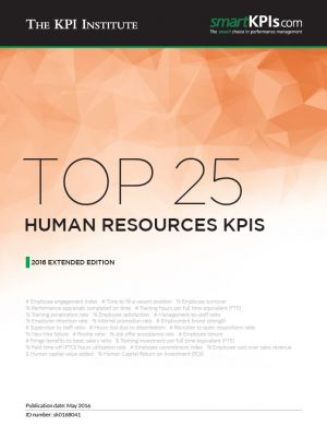 Top 25 Human Resources KPIs – 2016 Extended Edition