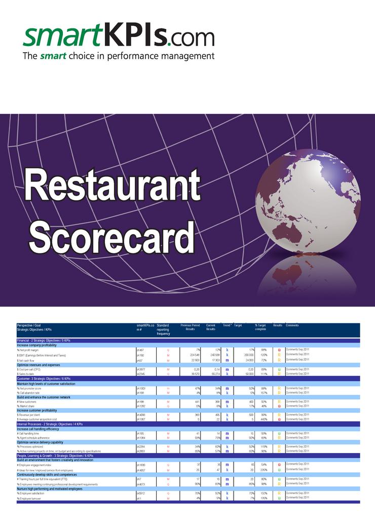 restaurant excel template