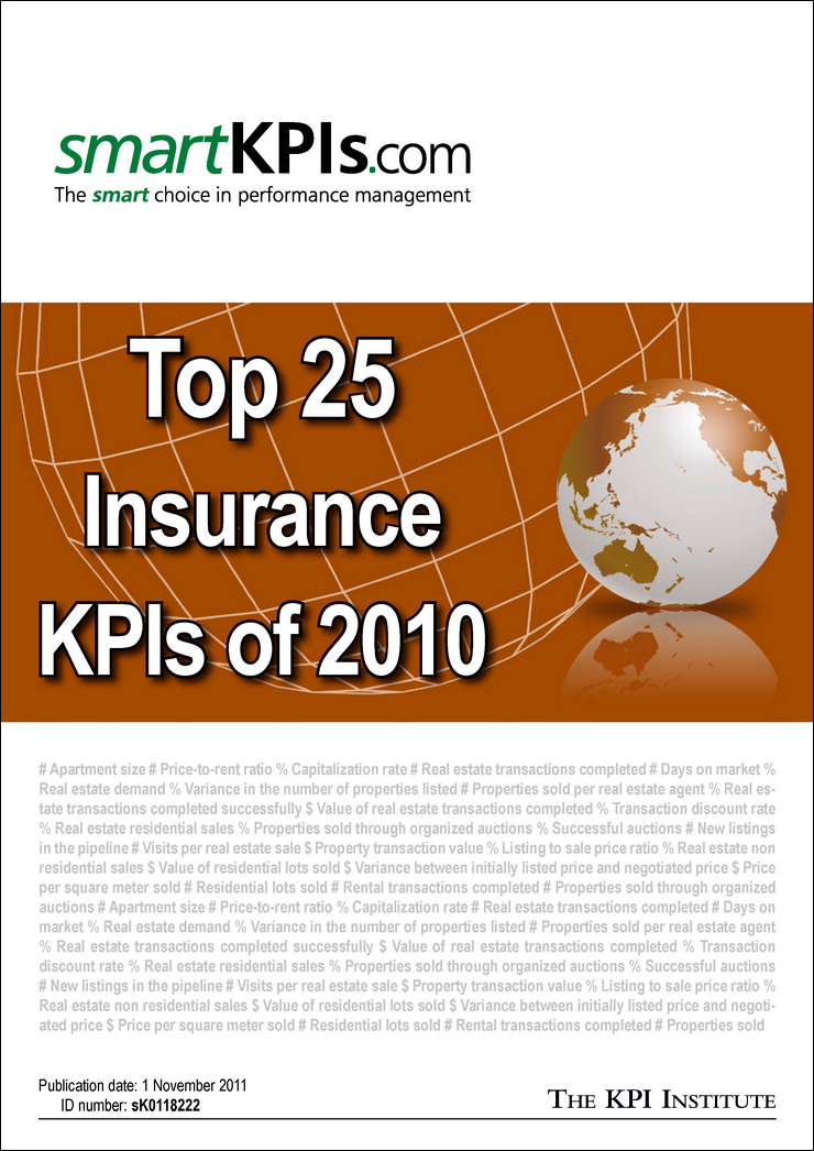 Top 25 Insurance KPIs of 2010 E-Book 1
