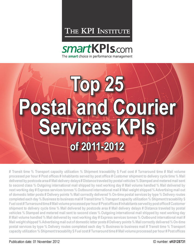 Top 25 Postal and Courier Services KPIs of 2011-2012 E-Book 1