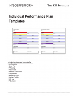 Individual Performance Plan Templates