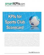 KPIs for Sports Club Scorecard