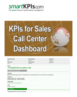 KPIs for Sales Call Center Dashboard