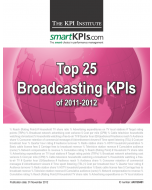 Top 25 Broadcasting (TV and Radio) KPIs of 2011-2012