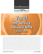 Top 25 HR Service Delivery KPIs of 2011-2012
