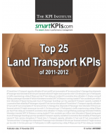 Top 25 Land Transport (Road & Rail) KPIs of 2011-2012