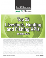 Top 25 Livestock, Hunting and Fishing KPIs of 2011-2012