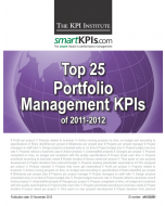 Top 25 Portfolio Management KPIs of 2011-2012