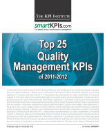 Top 25 Quality Management KPIs of 2011-2012