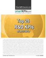 Top 25 Research & Development KPIs of 2011-2012