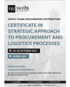 Certificate in Strategic Approach to Procurement and Logistics Processes