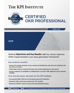Certified OKR Professional