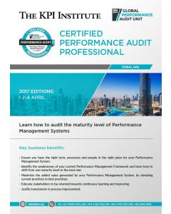 Certified Performance Audit Professional