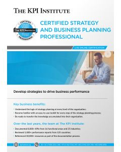 Live Certified Strategy and Business Planning Professional 13-17 April
