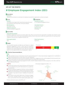 KPI of the Month: # Employee Engagement Index (EEI)
