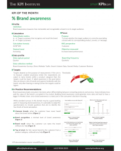 KPI of July: % Brand awareness