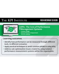 Key Performance Indicators - The Core of Performance Management Systems