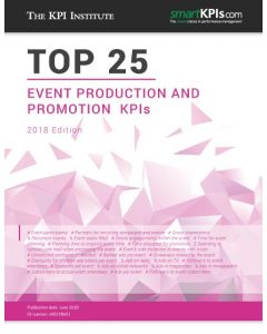 Top 25 Event Production and Promotion KPIs - 2018