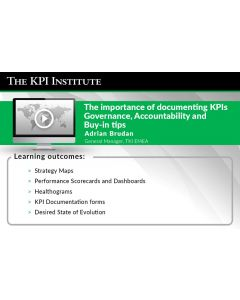 The importance of documenting KPIs Governance, Accountability and Buy-in tips