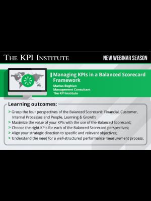 Managing KPIs in a Balanced Scorecard Framework