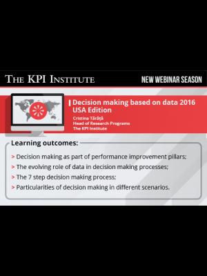 Decision making based on data 2016 USA Edition
