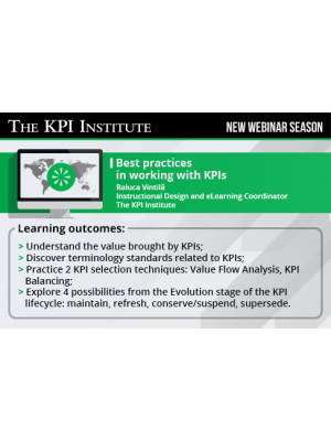 Best practices in working with KPIs 2016 US Edition