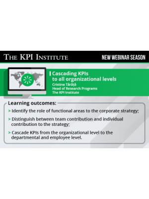 Cascading KPIs to all organizational levels 2016 Global Edition