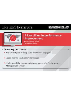 3 key pillars in Performance Improvement