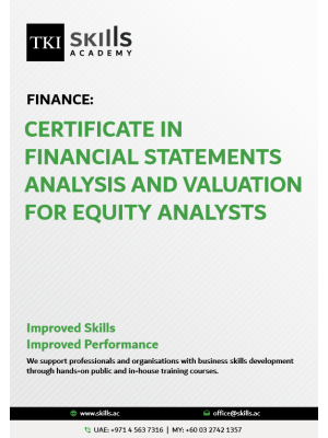 Certificate in Financial Statements Analysis and Valuation for Equity Analysts