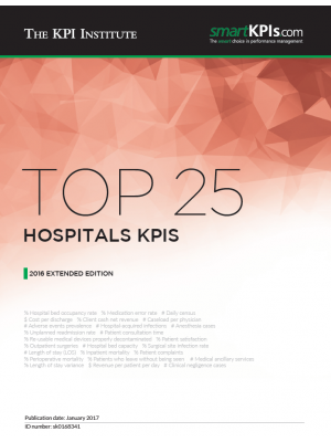 Top 25 Hospitals KPIs – 2016 Extended Edition