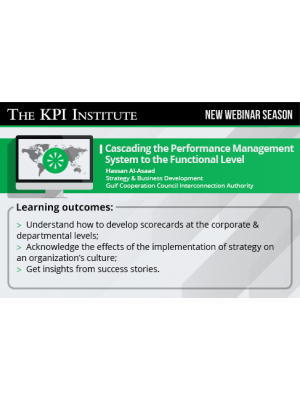 Cascading the Performance Management System to the Functional Level