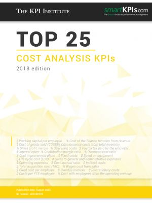 Top 25 Cost Analysis KPIs – 2018 Edition