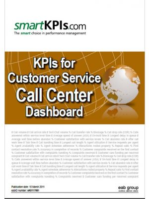 KPIs for Customer Service Call Center Dashboard