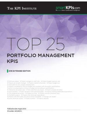 Top 25 Portfolio Management KPIs - 2016 Extended Edition