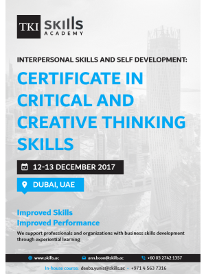 Certificate in Critical and Creative Thinking Skills
