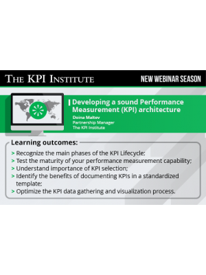 Developing a sound Performance Measurement (KPI) architecture (delivered in Spanish)