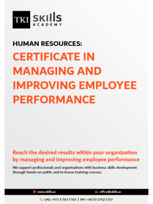 Certificate in Managing and Improving Employee Performance