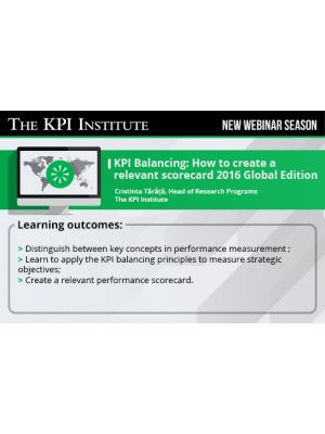 KPI Balancing: How to create a relevant scorecard 2016 Global Edition