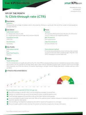 KPI of the Month: % Click through rate