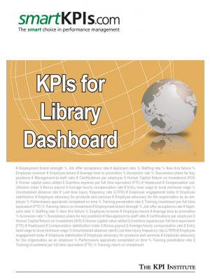 KPIs for Library Dashboard