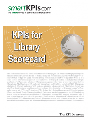 KPIs for Library Scorecard