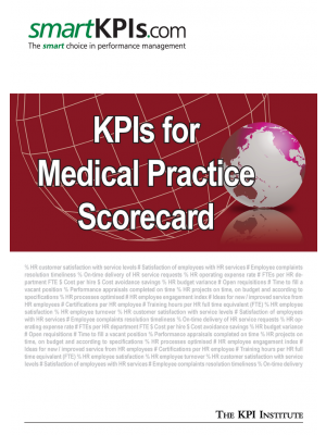 KPIs for Medical Practice Scorecard