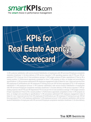 KPIs for Real Estate Agency Scorecard