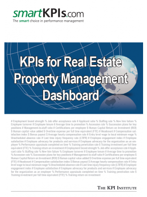 KPIs for Real Estate Property Management Dashboard