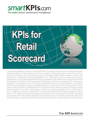 KPIs for Retail Scorecard