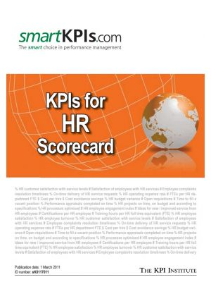 KPIs for HR Scorecard