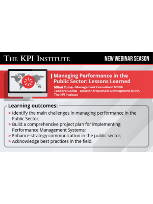 Managing Performance in the Public Sector: Lessons Learned
