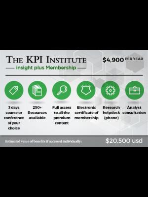 The KPI Institute insight plus Membership